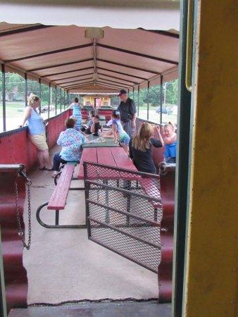 Abilene, KS: View going into the gondola car from the dinning car