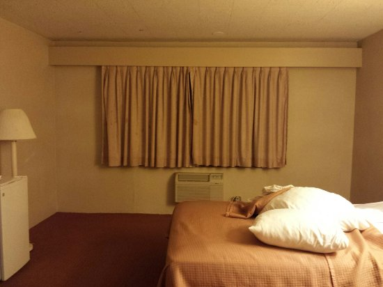 Howard Johnson Hotel by the Falls Niagara Falls: Outdated and stained carpet and drapes.