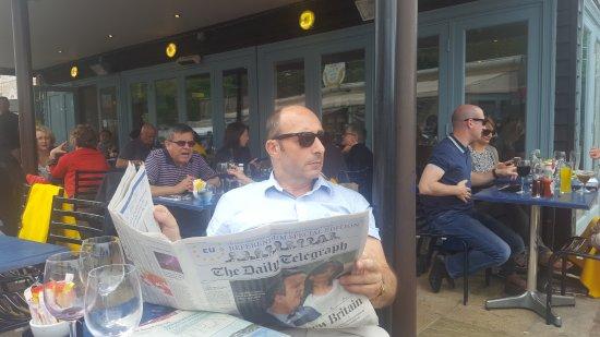 The Wharf: pre-lunch Telegraph...