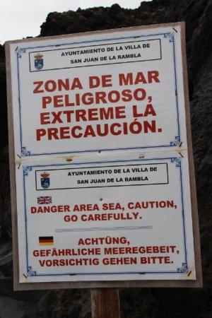 San Juan de la Rambla, Spanien: nur bei ruhiger See !