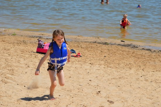 Granbury City Beach: Sand castles, cool water and fun in the sun.