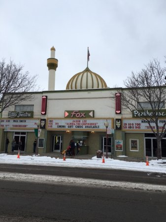 Montrose, CO: From view of Fox Theatre in Winter