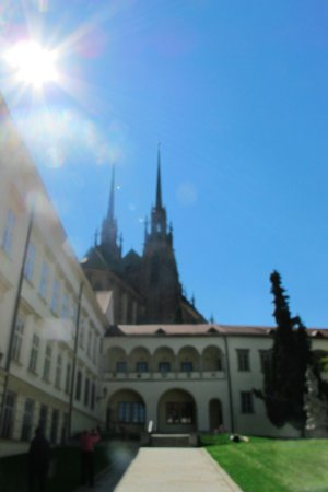 Brno, Çek Cumhuriyeti: In the old abbey patio