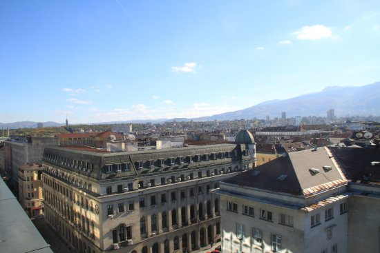 Grand Hotel Sofia: different view from private roof deck