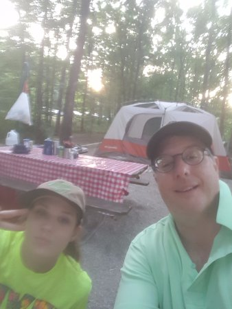 Shelbyville, IL: Selfie at our campsite