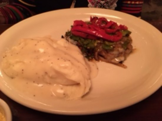 Smothered Chicken Breast - Picture of Texas Club, Ruidoso ...