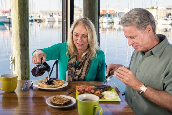 Panama City, FL: Savor a hearty breakfast on the waterfront at Bayou Joe's.