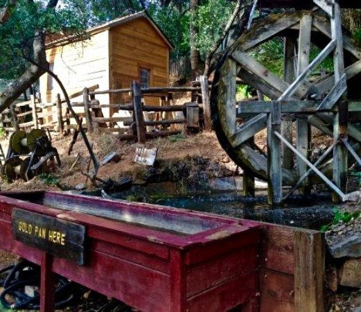 Gold panning area at the 49er RV Ranch