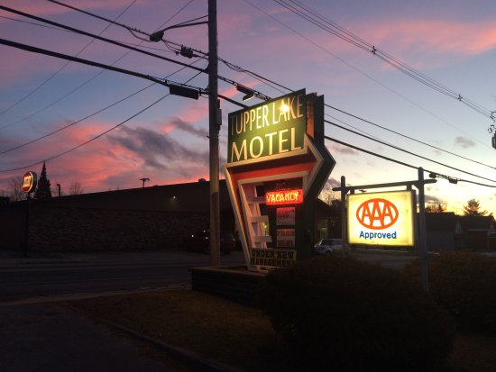 Tupper Lake Motel Sunset 2016