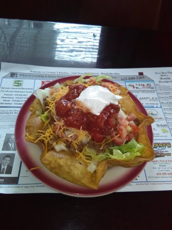 Taco Salad is also available as a special on Fridays