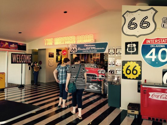 Oklahoma Route 66 Museum: A fun thing to do if you're coming through Clinton, OK. An entertaining way to learn the history