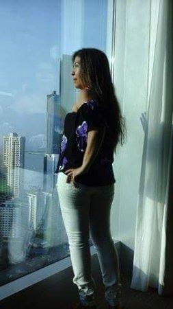 Hotel Riu Plaza Panama: contemplando un atardecer desde la habitacion