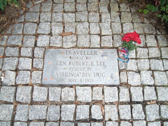 Lee Chapel and Museum: General Lee's horse's grave.