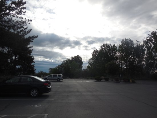 Shilo Inn Suites Hotel Richland: A view from the parking lot in front of our room.