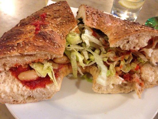 Museum cafe: Amazing ftira Sandwich!