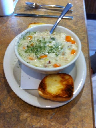 Clarenville, كندا: A nice thick chowder.