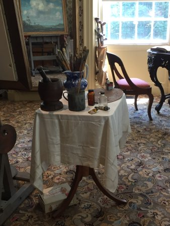Old Lyme, CT: Inside the home of Florence Griswold, room set up as typical artist studio space
