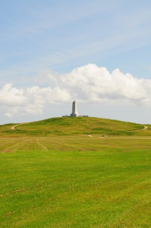 Wright Brothers National Memorial: Monument on top of Kill Devil Hill for Wright Brothers. Shot from visitor center
