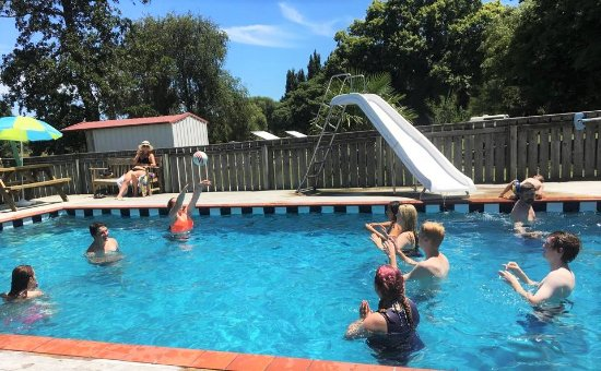 Whanganui, Yeni Zelanda: Swimming Pool Fun