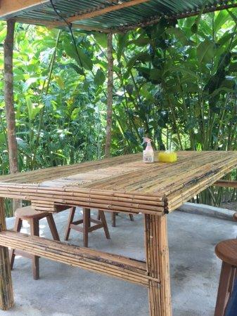Rattan Dining Table Outside Hut Picture Of Rain Forest Inn Ringlet Tripadvisor