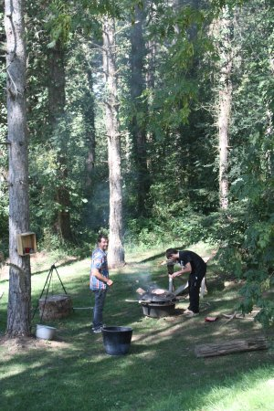 Murmures d'Arbres : ambiance trappeur dans le parc