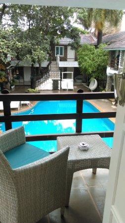 Anjuna, Indien: Pool view from the room