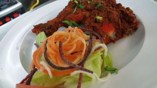 Shefford, UK: Mouthwatering Exclusive Dish & Dessert