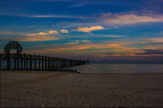 Pascagoula Beach Park Pier At Sunset