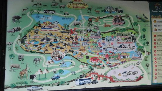 Map of safari world picture of safari world bangkok tripadvisor map of safari world gumiabroncs Gallery