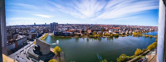 Scandic Copenhagen: Fantastic panoramic view from our hotel room!