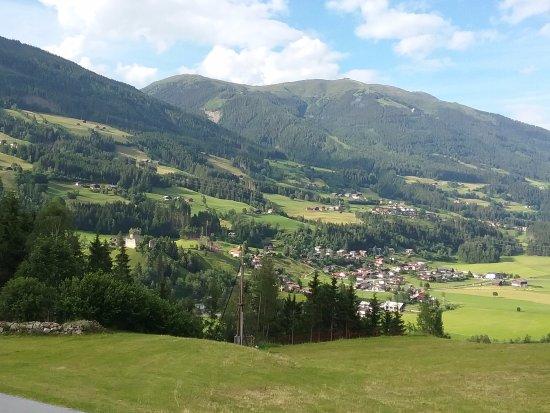 Gasthof Friedburg: View down valley