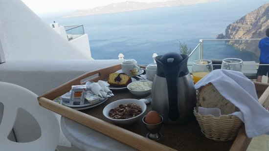 Agnadema Apartments: Breakfast with the best view on the Island!