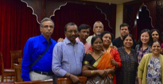 Indian Kitchen: Group photo taken in the restaurant