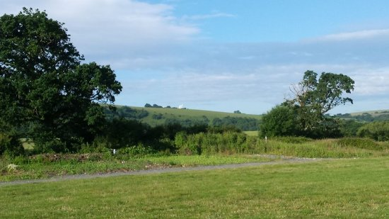 Hassocks, UK: beautiful scenery from tent