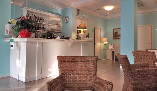 Villa Rosa: Angolo bar, lettura e tv
