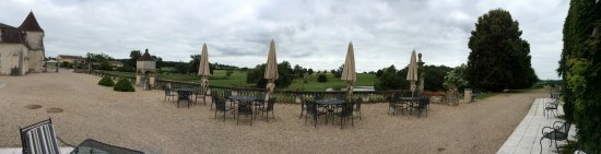 Monestier, Prancis: Vue de la terrasse du restaurant
