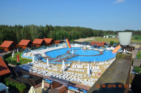 Fojutowo, Polónia: Niestety widok nie z pokoju, a z wieżyczki na hotelu