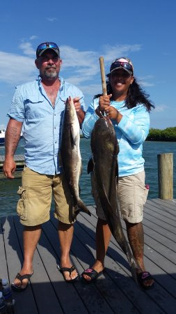 Holly Hill, FL: Nice pair of cobia caught off Ponce Inlet