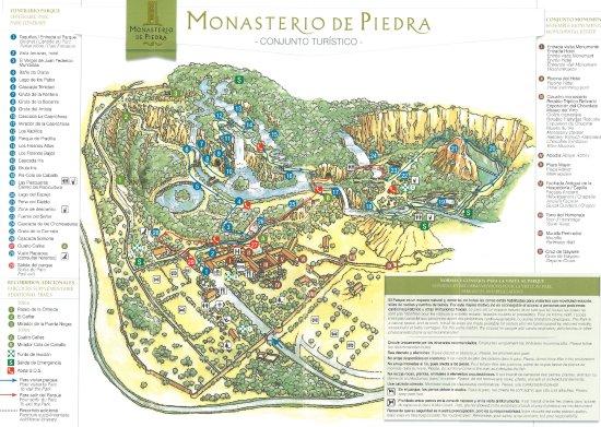 Parque Pignatelli Zaragoza Mapa.El Mapa Fotografia De Monasterio De Piedra Zaragoza