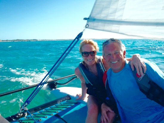 Sands at Grace Bay: Sailiing on the Hobie Cat