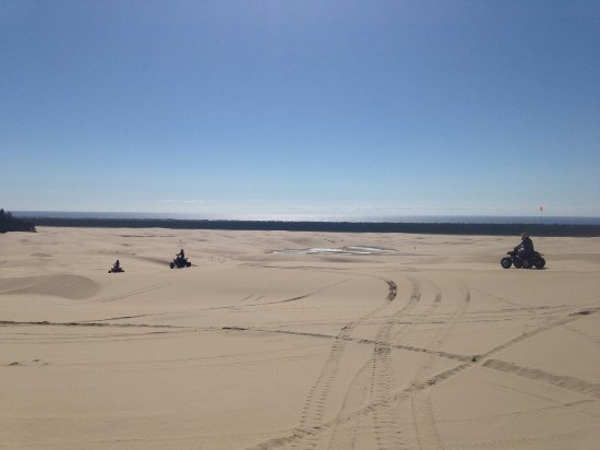 Florence, OR: great view of dunes and ocean in the background