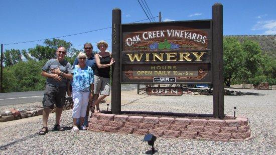 Jerome, AZ: at the Oak Creek winery