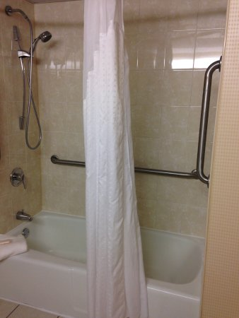 Holiday Inn Roanoke Valley View: shower faucet easily removes