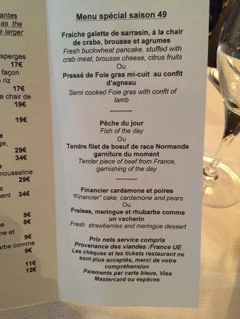 Le Menu - Picture of Mitch, Aix-en-Provence - TripAdvisor