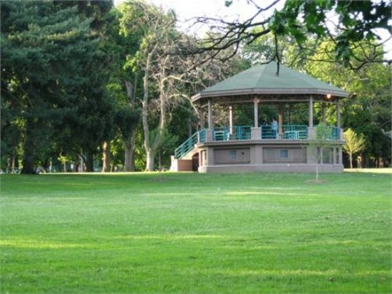 Toledo, OH: The gazebo in the center of the park.