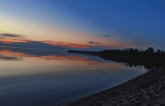 Presque Isle, MI: The 'back yard' just after sunset.