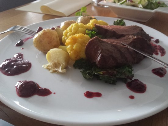 Livingroom Loin Of Venison With Fresh Fruit And A Red Wine Saus Menu