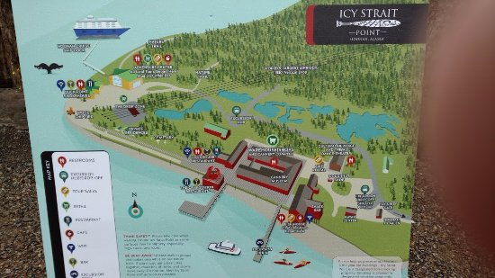 Huna Alaska Map.Map Of Icy Straight Point Picture Of Icy Strait Point Hoonah