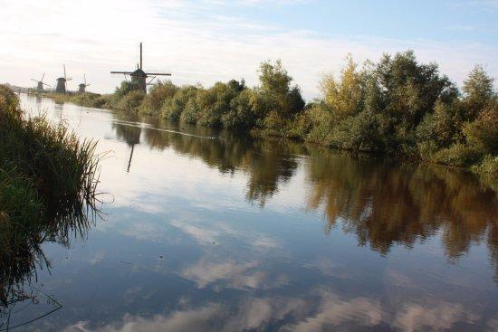 Boottocht Rotterdam - Kinderdijk: 早上的小孩堤防