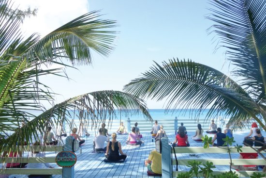 Sivananda Ashram Yoga Retreat: Yoga With a View From the Beach Platform